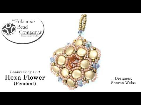 Hexa Flower Pendant Tutorial (A 2017 Potomac Challenge Winner)