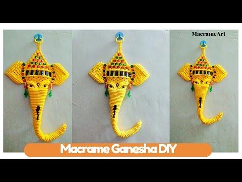 DIY macrame tutorial of Macrame Ganesha | How to turn Trunk of macrame Ganesha