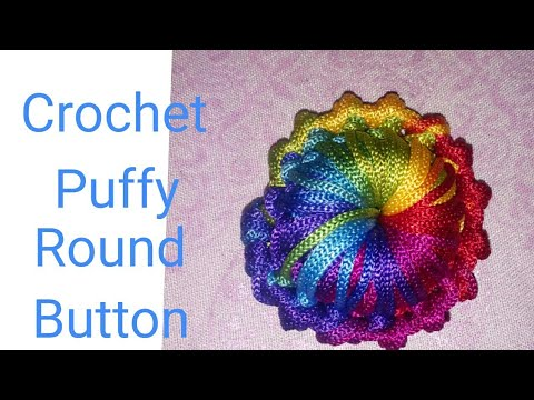 Crochet Puffy Round Button in hindi ll indian crochet patterns