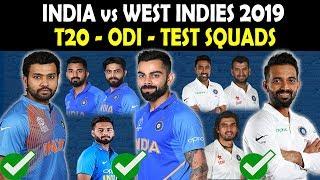 India ODI & T20 Team Squads vs West Indies 2019 | Team India Test squad for West Indies series