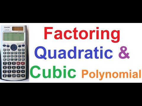 How to Factor Quadratic and Cubic Polynomials on Casio fx-991ES Scientific Calculator