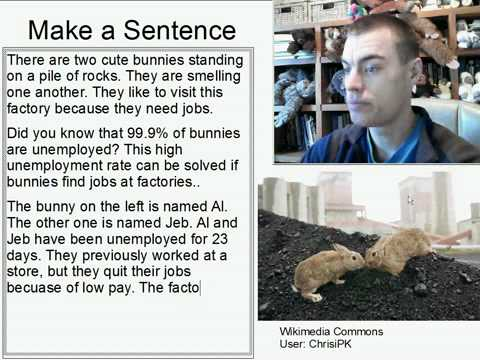 Learn English Make a Sentence and Pronunciation Lesson 146: Bunnies