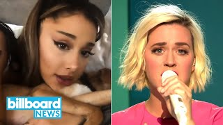 Ariana Grande & Justin Bieber Debut at #1, Katy Perry 'American Idol' Performance | Billboard News