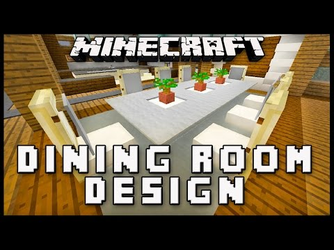 Minecraft: How To Make Dining Room Furniture   (Modern House Build Ep. 19)