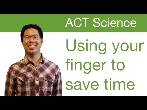 Best ACT Science Prep Strategies, Tips, and Tricks - Use Your Finger