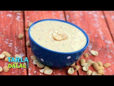 Peanut Curd Chutney, Faral Peanut Curd Chutney by Tarla Dalal