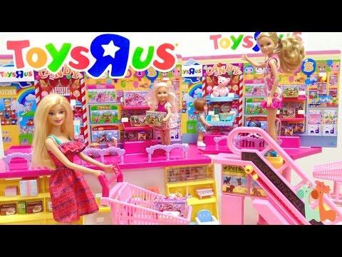 バービー トイザらスでお買い物 ショッピングモール / Barbie Toy Shopping at TOYS