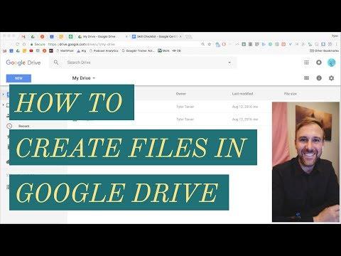 Creating Files // Google Drive