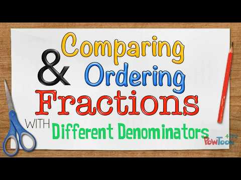 Comparing and Ordering Fractions with Different Denominators (fraction strips)