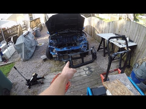 EM1 PROJECT #13 REPLACING RADIATOR SUPPORT PART 1!!