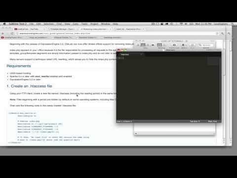 ExpressionEngine 2 Tutorials #19 - Removing index.php from EE URLs