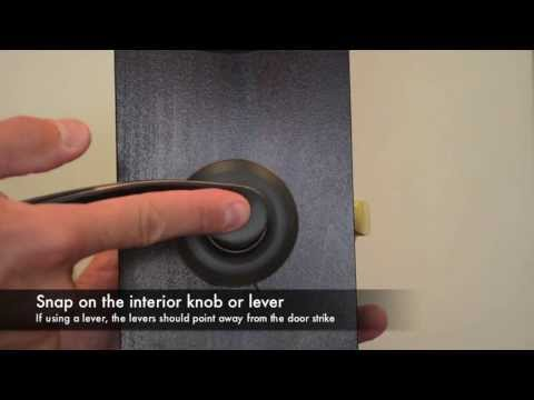 Yale Real Living Passage Lock Installation