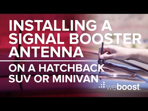 Mounting A Signal Booster Antenna On A Hatchback, SUV or Minivan   weBoost