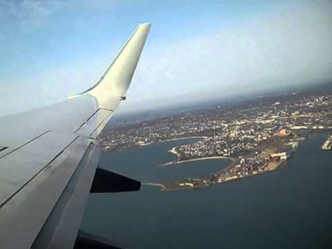 Taking off from boston logan airport