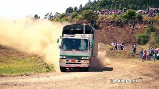 Camioneros muestran sus habilidades al volante