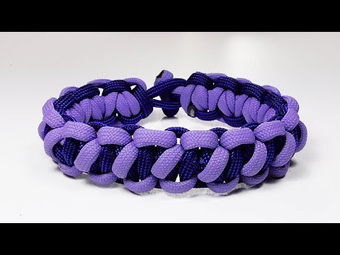Paracord Tutorial: Spaced Bootlace Solomon Bar Paracord Bracelet