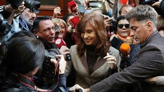 Ex Argentine president defiant in