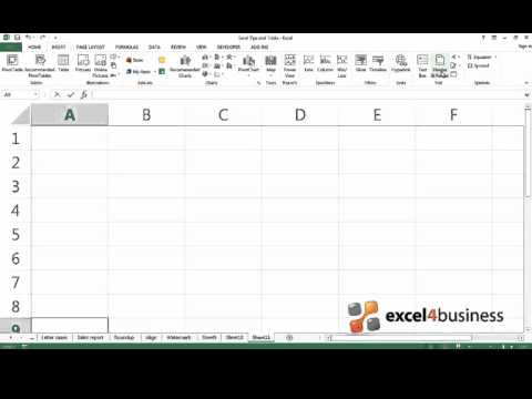 How to Add a Watermark to a Worksheet in Excel 2013