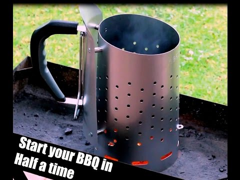 Charcoal Chimney Starter _ How to use Barbecue Chimney - Heat beads Fire starter