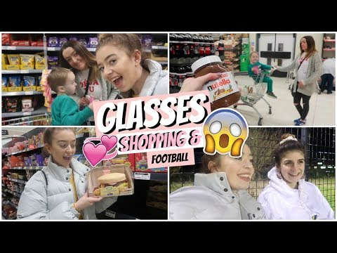 FINDING OUT IF NEED GLASSES?! & DELIRIOUS FAMILY FOOD SHOPPING!!