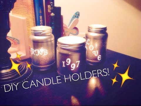 DIY  Personalized Jar Candle Holders