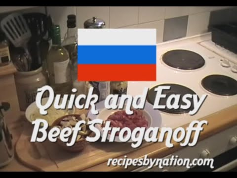 How to make Russian Stroganoff - Quick and Easy Beef Stroganoff Recipe