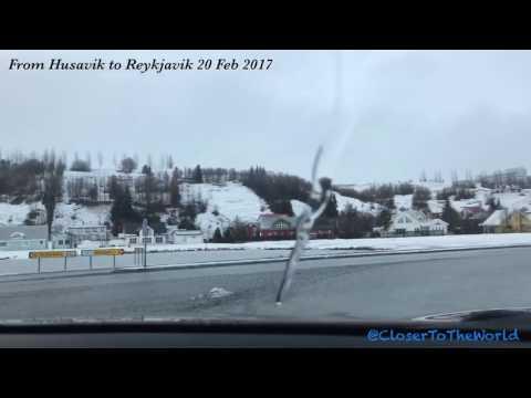 Iceland , From Husavik to Reykjavik 20 Feb 2017