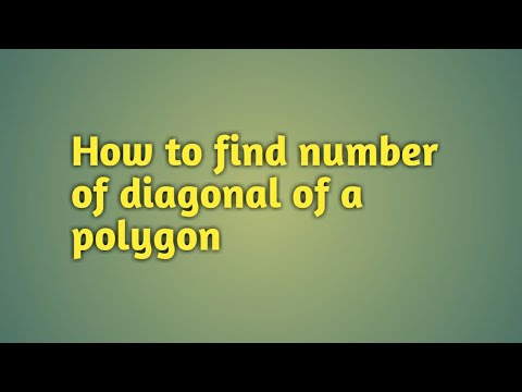 How to find number of diagonal of polygon