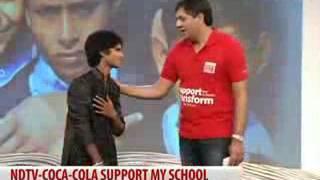 Teri Deewani     Salman ali with Sachin Tendulkar     NDTV live show   .....