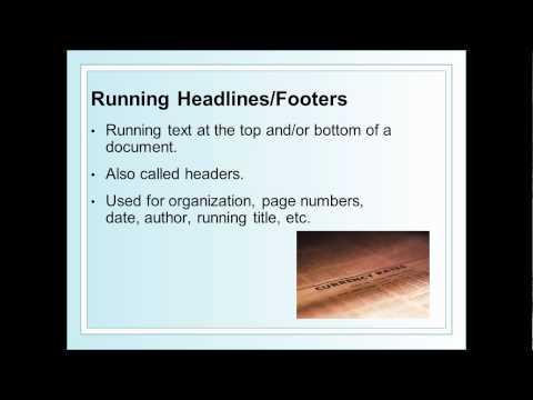 Desktop Publishing Design Features terms