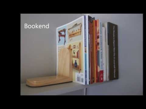 Simple wooden bookend