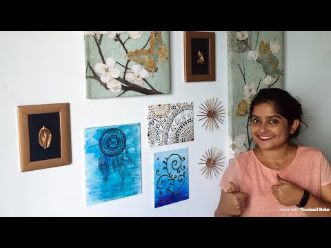 DIY WALL DECOR || STATEMENT WALL IN BUDGET