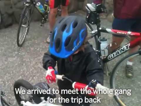 5 year old rides bike across Golden Gate Bridge