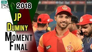 JP Duminy Moments on Closing Ceremony | HBL PSL 2018