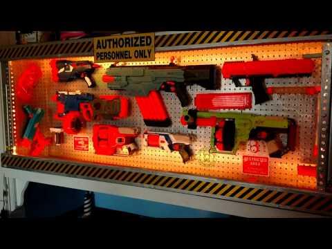Ultimate Nerf gun display.