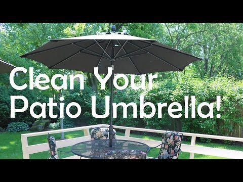 HOW TO CLEAN YOUR PATIO UMBRELLA!