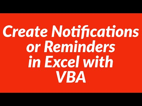 How to create notifications or reminders in Excel with VBA