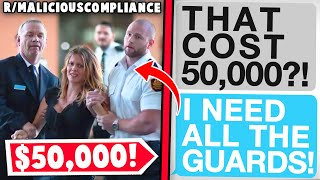 r/maliciouscompliance | CEO's Security Paid out $50,000
