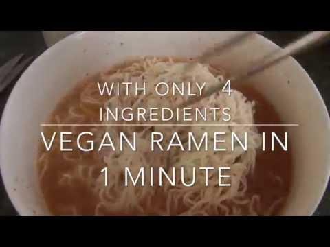 Vegan Ramen in 1 minute