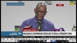 BREAKING NEWS: ANC NEC to recall President Zuma