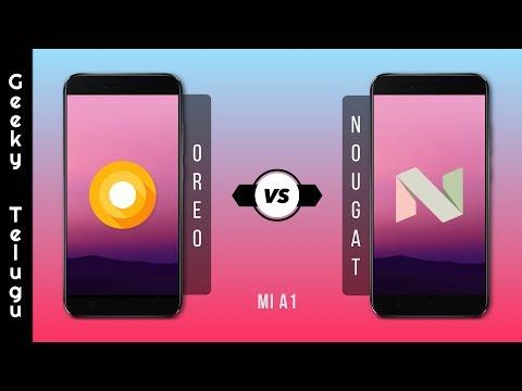 Android Oreo vs Android Nougat On Mi A1 | Telugu | Geeky Telugu