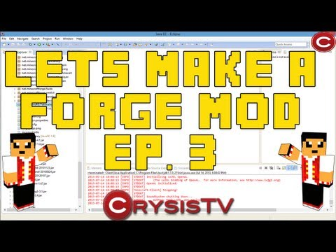 How To Make A Minecraft 1.6.2 Mod Ep. 3: Basic Items!! (Minecraft Forge Coding)