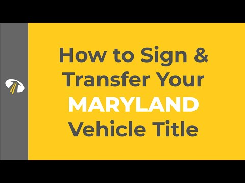 How to Sign Your Maryland Title Transfer