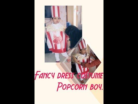 How to make Fancy dress costume - Popcorn costume..