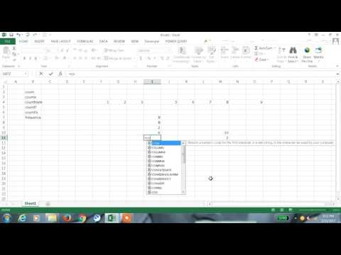 Excel 2013 Tutorial#92 Count & Frequency Function in Excel