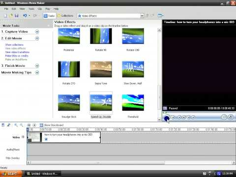 how to slow down and speed up videos using movie maker