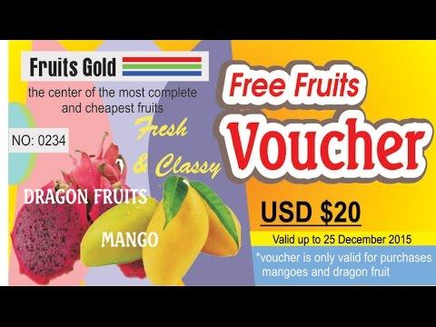 Coreldraw Tutorial Design Voucher (Free Fruit Voucher)