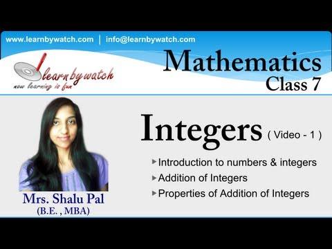 Integers - Mathematics for class 7 - Video 1