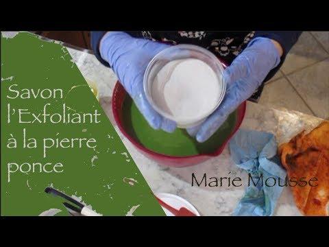 Fabrication d'un savon exfoliant avec pierre ponce
