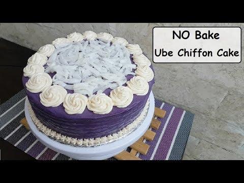 No Bake Ube Chiffon Cake | Ube Mapuno cake (Chiffon cake)